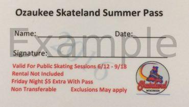 2017 Summer Skate Pass